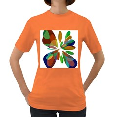 Colorful Abstract Flower Women s Dark T Shirt by Valentinaart