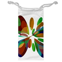 Colorful Abstract Flower Jewelry Bags by Valentinaart