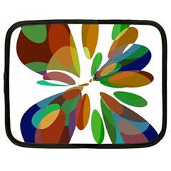 Colorful Abstract Flower Netbook Case (large) by Valentinaart