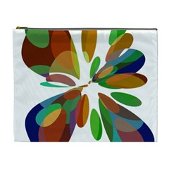 Colorful Abstract Flower Cosmetic Bag (xl) by Valentinaart