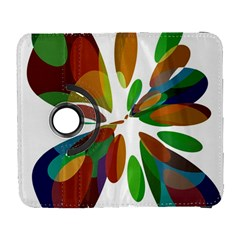 Colorful Abstract Flower Samsung Galaxy S  Iii Flip 360 Case by Valentinaart
