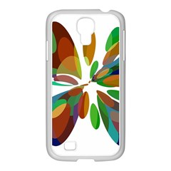 Colorful Abstract Flower Samsung Galaxy S4 I9500/ I9505 Case (white) by Valentinaart