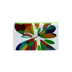 Colorful Abstract Flower Cosmetic Bag (xs) by Valentinaart