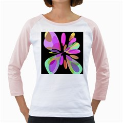 Pink Abstract Flower Girly Raglans by Valentinaart