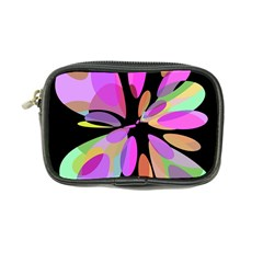 Pink Abstract Flower Coin Purse by Valentinaart
