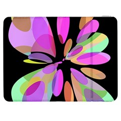 Pink Abstract Flower Samsung Galaxy Tab 7  P1000 Flip Case by Valentinaart