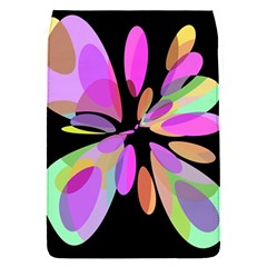Pink Abstract Flower Flap Covers (s)  by Valentinaart