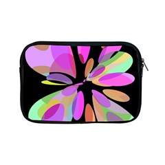 Pink Abstract Flower Apple Ipad Mini Zipper Cases by Valentinaart