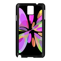 Pink Abstract Flower Samsung Galaxy Note 3 N9005 Case (black) by Valentinaart