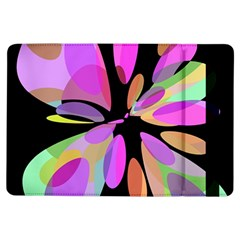 Pink Abstract Flower Ipad Air Flip by Valentinaart