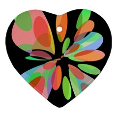 Colorful Abstract Flower Ornament (heart)  by Valentinaart