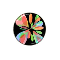 Colorful Abstract Flower Hat Clip Ball Marker by Valentinaart