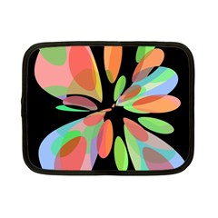 Colorful Abstract Flower Netbook Case (small)  by Valentinaart