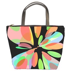 Colorful Abstract Flower Bucket Bags by Valentinaart