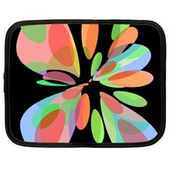 Colorful Abstract Flower Netbook Case (xxl)  by Valentinaart