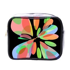 Colorful Abstract Flower Mini Toiletries Bags by Valentinaart