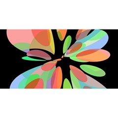 Colorful Abstract Flower You Are Invited 3d Greeting Card (8x4)  by Valentinaart