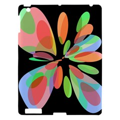 Colorful Abstract Flower Apple Ipad 3/4 Hardshell Case by Valentinaart