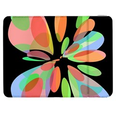 Colorful Abstract Flower Samsung Galaxy Tab 7  P1000 Flip Case by Valentinaart