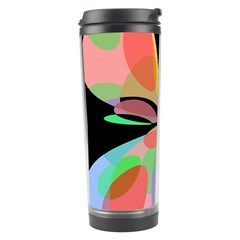 Colorful Abstract Flower Travel Tumbler by Valentinaart
