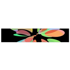 Colorful Abstract Flower Flano Scarf (small) by Valentinaart