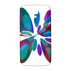 Blue Abstract Flower Samsung Galaxy S4 I9500/i9505  Hardshell Back Case by Valentinaart