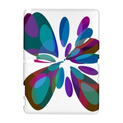 Blue Abstract Flower Samsung Galaxy Note 10 1 (p600) Hardshell Case by Valentinaart
