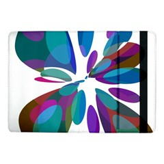 Blue Abstract Flower Samsung Galaxy Tab Pro 10 1  Flip Case by Valentinaart