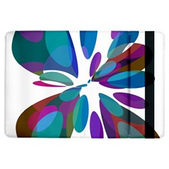 Blue Abstract Flower Ipad Air Flip by Valentinaart