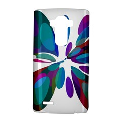 Blue Abstract Flower Lg G4 Hardshell Case by Valentinaart