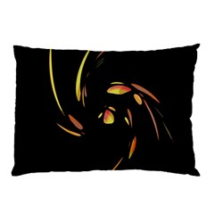 Orange Twist Pillow Case (two Sides) by Valentinaart