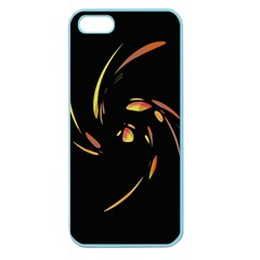 Orange Twist Apple Seamless Iphone 5 Case (color) by Valentinaart