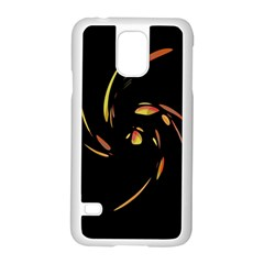 Orange Twist Samsung Galaxy S5 Case (white) by Valentinaart