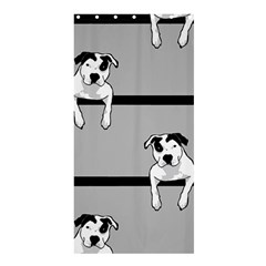 Pit Bull T Bone Shower Curtain 36  X 72  (stall)  by ButThePitBull