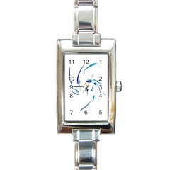 Blue Twist Rectangle Italian Charm Watch by Valentinaart