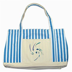 Blue Twist Striped Blue Tote Bag by Valentinaart