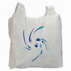 Blue Twist Recycle Bag (one Side) by Valentinaart