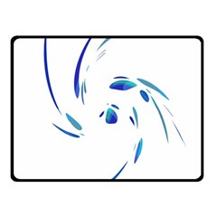 Blue Twist Fleece Blanket (small) by Valentinaart