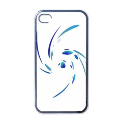 Blue Twist Apple Iphone 4 Case (black) by Valentinaart