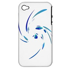 Blue Twist Apple Iphone 4/4s Hardshell Case (pc+silicone) by Valentinaart