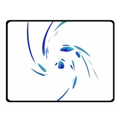 Blue Twist Double Sided Fleece Blanket (small)  by Valentinaart
