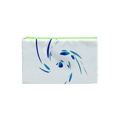 Blue Twist Cosmetic Bag (xs) by Valentinaart