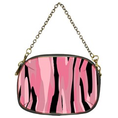 Black And Pink Camo Abstract Chain Purses (two Sides)  by TRENDYcouture