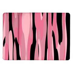 Black And Pink Camo Abstract Samsung Galaxy Tab 10 1  P7500 Flip Case by TRENDYcouture