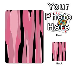 Black And Pink Camo Abstract Multi Purpose Cards (rectangle)  by TRENDYcouture