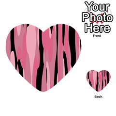 Black And Pink Camo Abstract Multi Purpose Cards (heart)