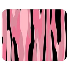 Black And Pink Camo Abstract Double Sided Flano Blanket (medium)  by TRENDYcouture