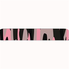 Pink And Black Camouflage Abstract 2 Small Bar Mats