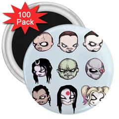 Worst Heroes Ever 3  Magnets (100 Pack)