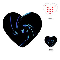 Blue Twist Playing Cards (heart)  by Valentinaart